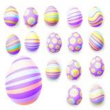 Комплект пасхальных яя 10 eps Стоковое фото RF