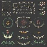 Комплект переченя флористический Стоковое Фото