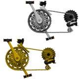 Комплект передачи велосипеда Стоковая Фотография RF