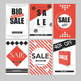 Комплект передвижных знамен для онлайн покупок Vector вебсайт иллюстраций и социальные средства массовой информации, плакаты, диз Стоковое фото RF