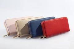 Комплект пестротканых бумажников ` s женщин Стоковая Фотография