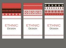 Комплект печати этнических знамен Стоковое фото RF