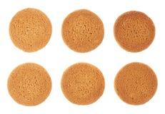 Комплект печений изолированных над белой предпосылкой Стоковые Фотографии RF