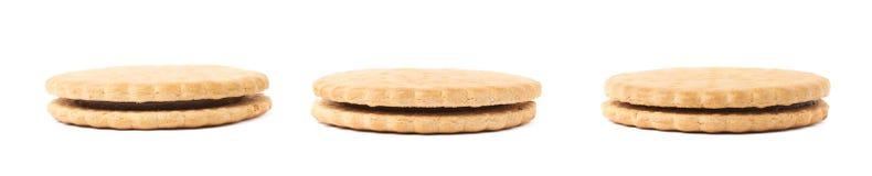 Комплект печений изолированных над белой предпосылкой Стоковая Фотография