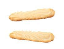 Комплект печений изолированных над белой предпосылкой Стоковое фото RF