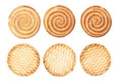 Комплект печений изолированных над белой предпосылкой Стоковые Изображения