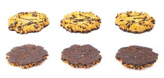 Комплект печений изолированных над белой предпосылкой Стоковые Изображения RF