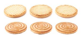 Комплект печений изолированных над белой предпосылкой Стоковое Изображение RF