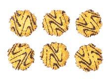 Комплект печений изолированных над белой предпосылкой Стоковое Изображение