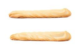 Комплект печений изолированных над белой предпосылкой Стоковая Фотография RF