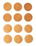 Комплект печений изолированных над белой предпосылкой Стоковое Фото