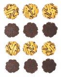 Комплект печений изолированных над белой предпосылкой Стоковые Фото