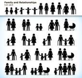 Комплект пиктограмм семьи Стоковые Изображения RF