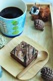 Комплект пирожного с черным кофе Стоковая Фотография RF