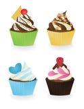 Комплект пирожных 3 иллюстрация штока