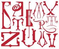 Комплект писем вектора английского алфавита Стоковое Изображение