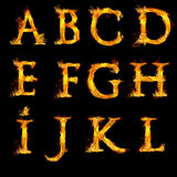 Комплект писем в пламенах Стоковое Фото