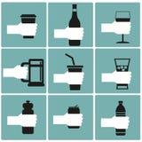 Комплект питья Стоковые Фотографии RF