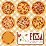 Комплект пиццы вектора Стоковое Изображение RF