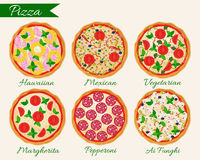 Комплект пиццы иллюстрация вектора