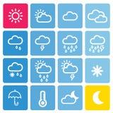 Комплект погоды значка Стоковое Изображение RF