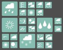 Комплект погоды значков сети Стоковое Изображение RF