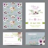 Комплект поздравительной открытки приглашения или Стоковое Изображение RF