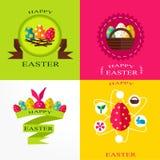 Комплект поздравительных открыток для пасхи Стоковая Фотография RF