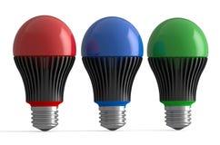 Комплект покрашенных ламп СИД иллюстрация вектора
