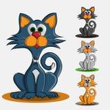 Комплект 4 покрашенных милых котят стоковое фото