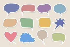 Комплект покрашенных пузырей речи бесплатная иллюстрация