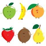 Комплект покрашенных плодоовощей Стоковое Изображение