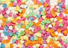 Комплект покрашенных сердец Стоковые Изображения