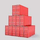 Комплект поставки контейнера груза 3d Стоковая Фотография