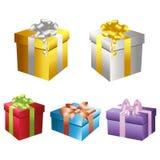 Комплект подарочных коробок 2 вектора Стоковые Фотографии RF