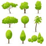 Комплект полигональных деревьев Стоковое Изображение RF