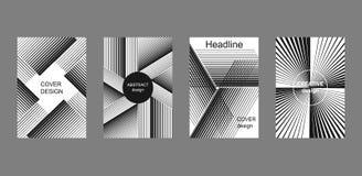 Комплект полутонового изображения stripes предпосылки Стоковые Изображения