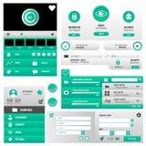 Комплект пользовательского интерфейса вебсайта Стоковая Фотография RF
