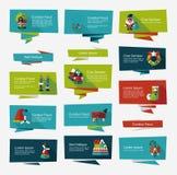 Комплект предпосылки знамени рождества плоский, eps10 Стоковое Изображение