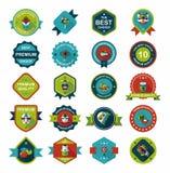 Комплект предпосылки дизайна знамени китайского значка Нового Года плоский, eps10 Стоковая Фотография RF