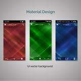 Комплект предпосылки дизайна ui материальной Стоковые Изображения RF
