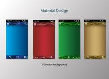 Комплект предпосылки дизайна ui материальной Стоковое фото RF