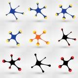 Комплект предпосылки иллюстрации вектора концепции графика связи Состав дизайна предназначенный к системе объединенной компании Стоковые Фотографии RF