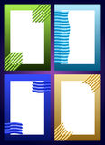 Комплект предпосылки обложки книги Стоковое Изображение
