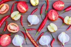 Комплект предпосылки овощей плодоовощей специй Стоковые Изображения