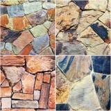 Комплект предпосылки текстуры каменной стены Стоковая Фотография