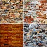 Комплект предпосылки текстуры кирпичной стены Стоковые Изображения RF