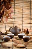 Комплект предпосылки чая Китая Стоковое Изображение RF