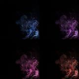 Комплект предпосылки дыма красочной абстрактной Стоковые Изображения