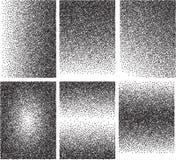 Комплект предпосылок вектора с градиентом переводит от черных пунктов Стоковая Фотография